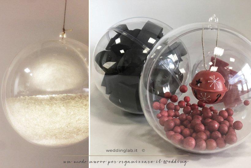 sfere di natale con diverse decorazioni