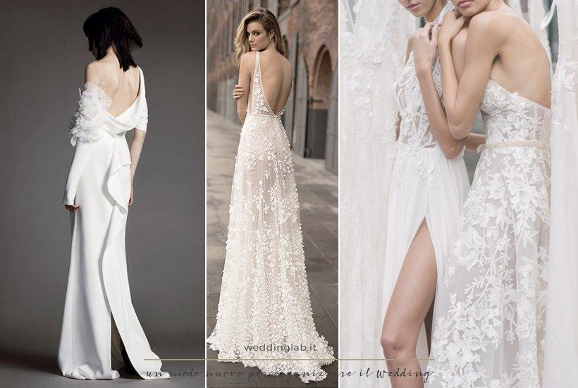 tre esempi di abito da sposa 2018collezioni - vera wang - muse by berta