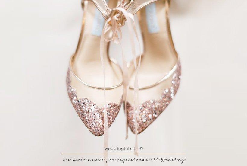 scarpe sposa con glitter rosa gold - Blue by Betsey Johnson