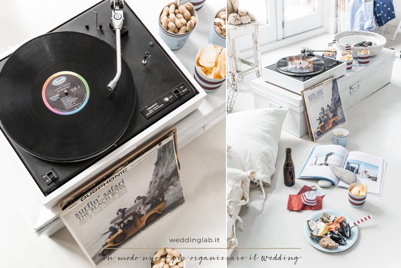 festa a tema musicale - dischi in vinile - unione civile idee per la festa