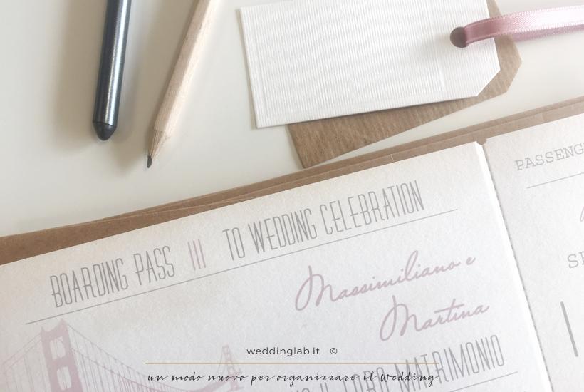 Carta d'imbarco - partecipazioni matrimonio a tema viaggio