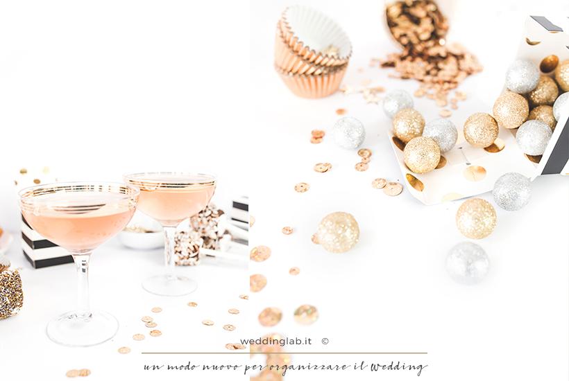 matrimonio invernale oro e champagne
