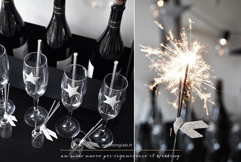 matrimonio invernale: party colori nero e argento