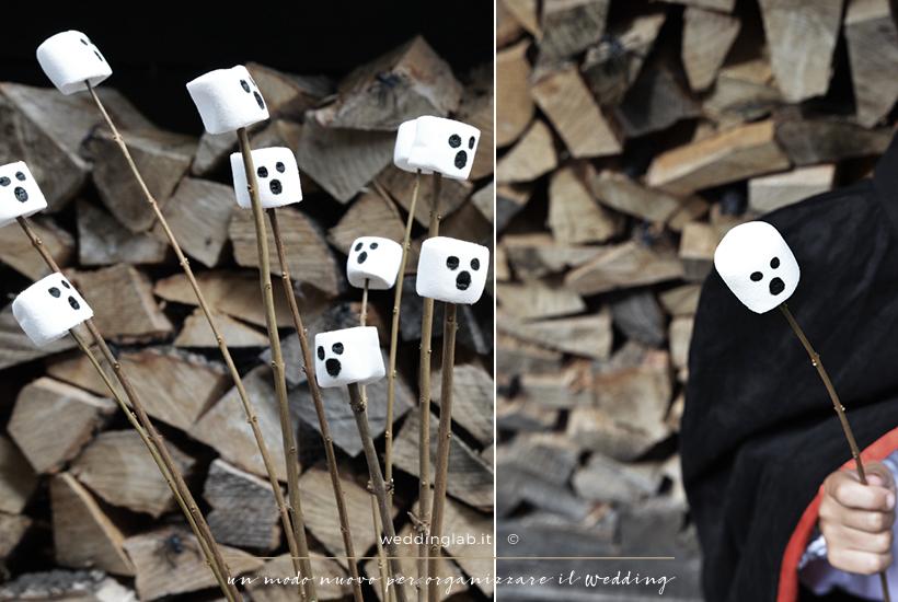 marshmallow fantasmino- Halloween: festa per bambini