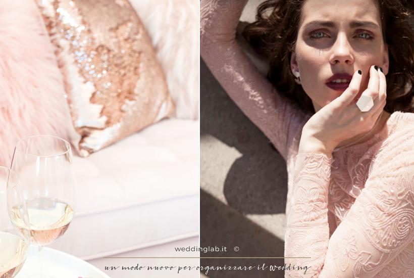 matrimonio invernale -accessori rose & gold